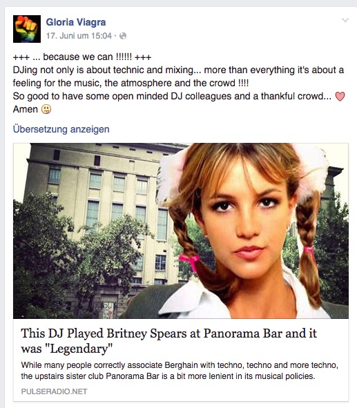 Britney wird im Berghain gespielt
