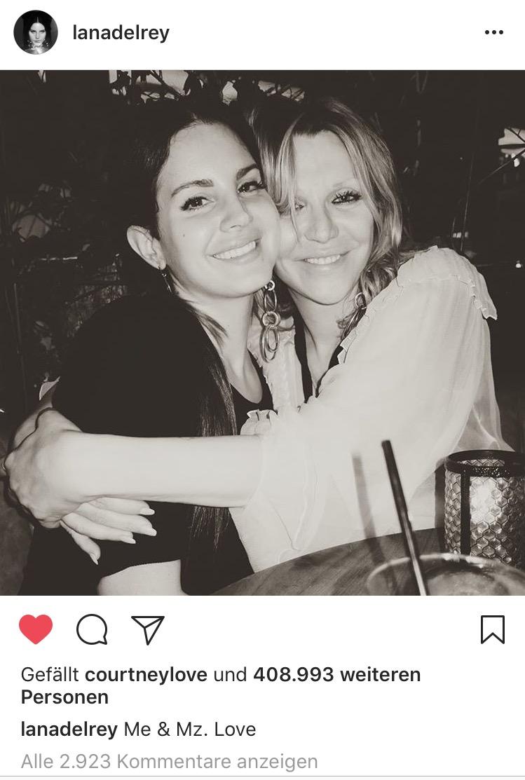 Lana del Rey, Courtney Love, Friendship