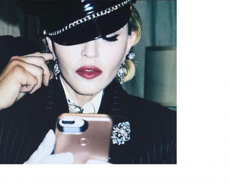 Madonna doing Instagram