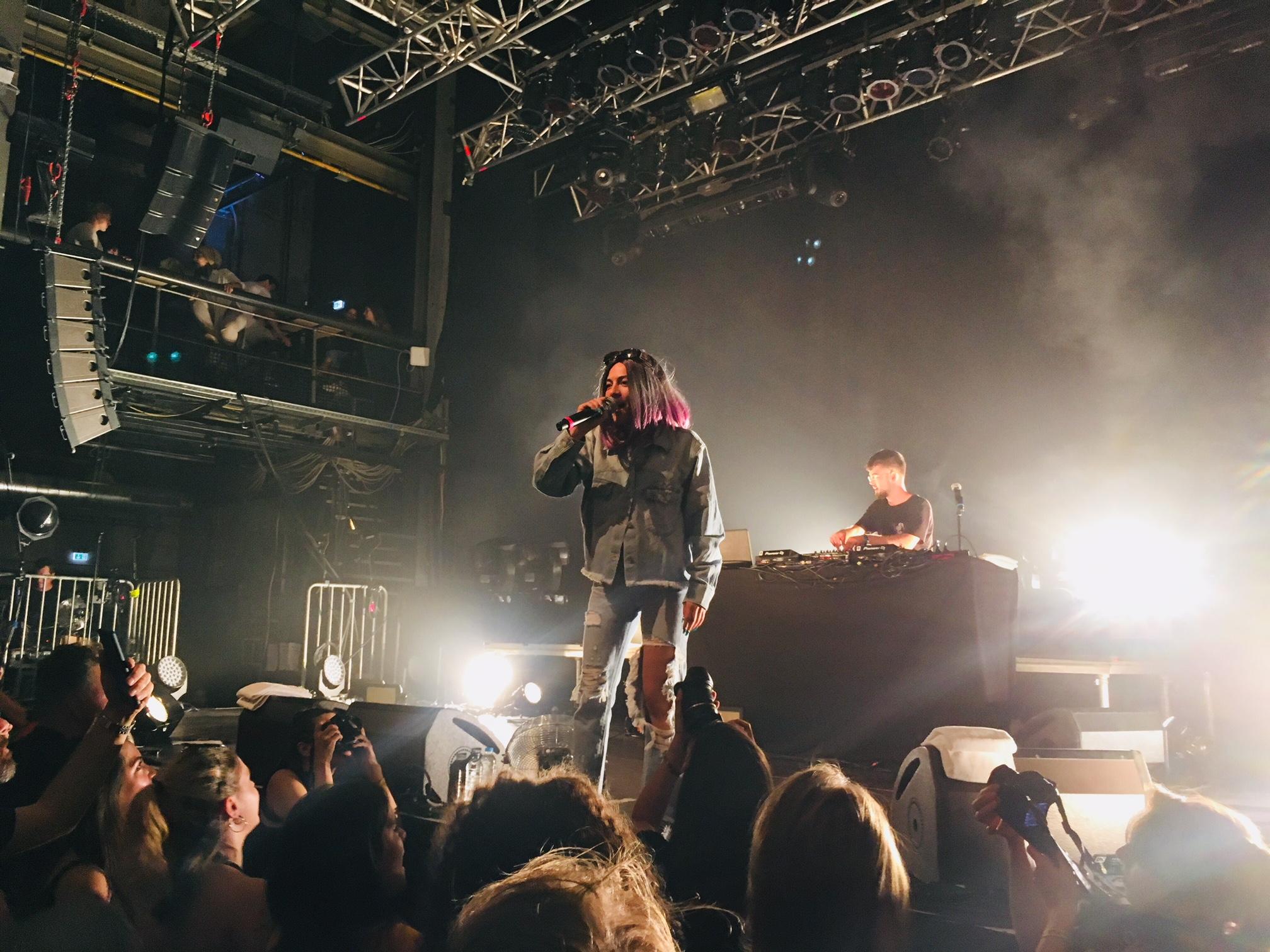 Haiyti trat am Freitag im Kesselhaus bei der Pop-Kultur 2018 in Berlin auf.