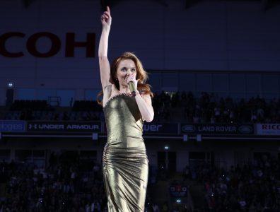 Ginger Spice Geri Halliwell ohne UNion Jack-Kleid in der Ricoh Arena in Coventry. Fotocredit: Nina Wüllner für www.popatemyheart.de